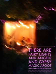 there are angels and gypsy magic afoot.